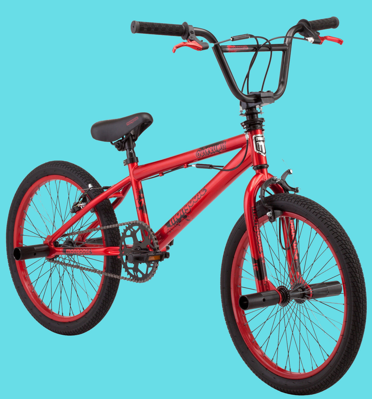20 Inch Candy Red Mongoose BMX Freestyle Bike Street/Dirt ...